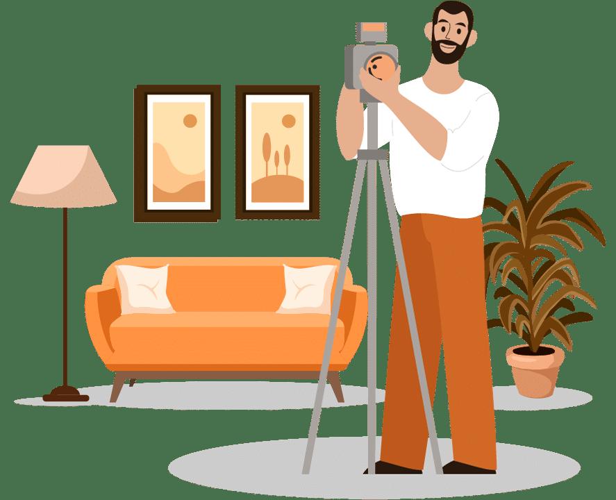 Professional photos and virtual tour