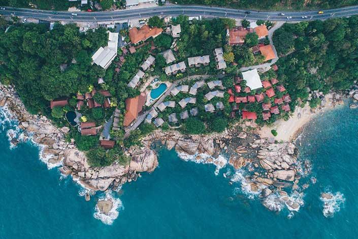 Koh Samui Aerial 4K Nature Video